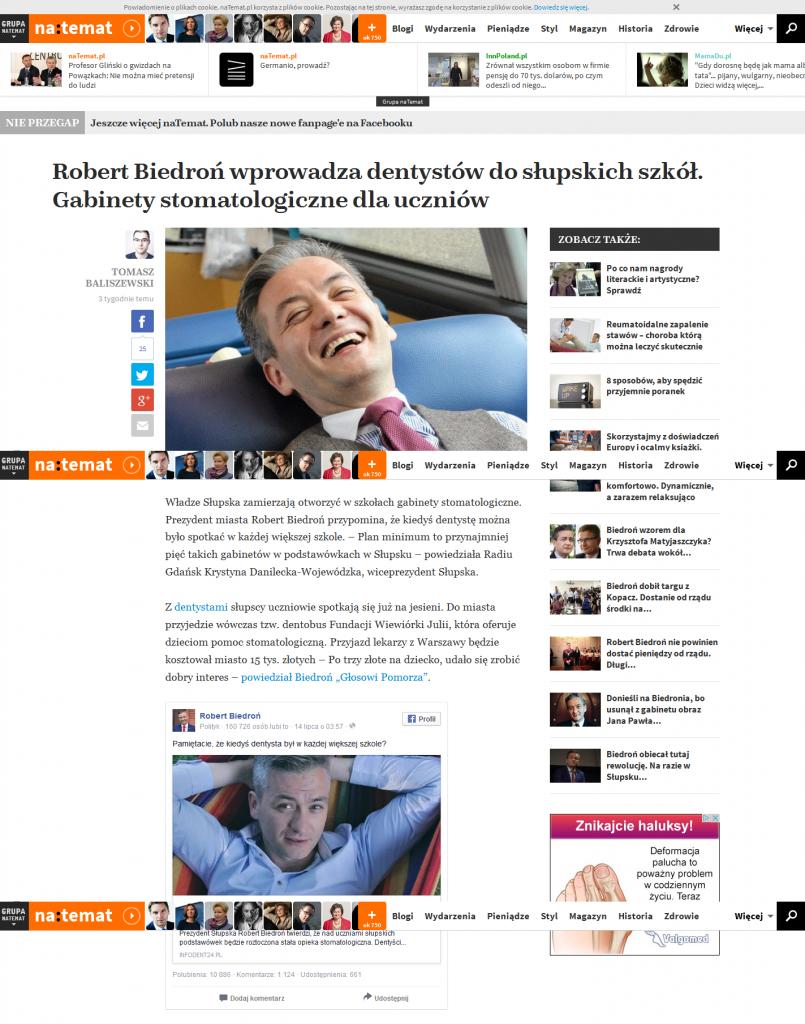 'Robert Biedroń wprowadza dentystów do słupskich szkół_ Gabinety stomatologiczne dla uczniów I naTemat_pl' -